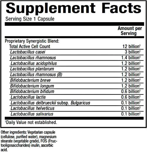Natural Factors Ultimate Probiotic 12/12 Formula 120 Vcaps