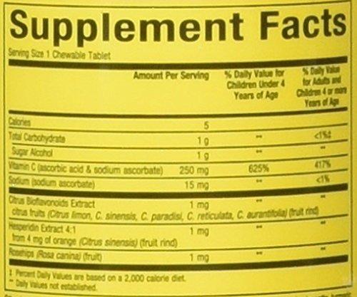 Natural Factors Vitamin C Big Friends Tangy Orange 90 Tabs