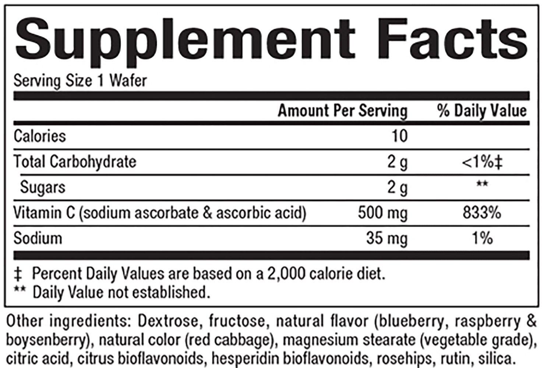 Natural Factors Vitamin C Blueberry Raspberry 90 Tabs