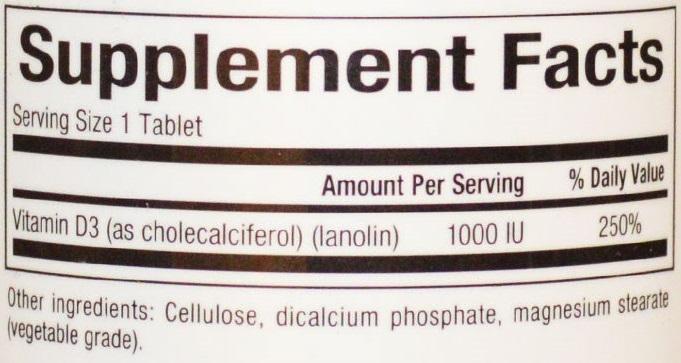 Natural Factors Vitamin D3 1000 IU 90 Tabs