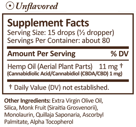PLUS CBD Oil CBD Drops Unflavored 100 mg 1 oz