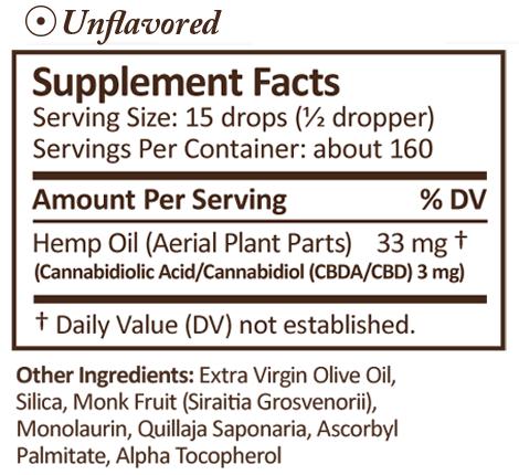 PLUS CBD Oil CBD Drops Unflavored 500 mg 2 oz
