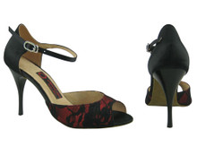 Online Wide Shoes - Fire in the Night (satin covered with lace)
