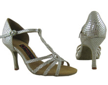 Online Wide Shoes - Silver Fashionista (fully leather)