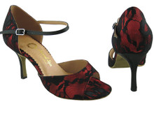 Online Wide Shoes - Lava and Love (lace over satin)