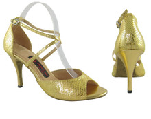 Online Wide Shoes - Gold and Desire