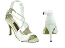 Online Wide Shoes - Ivory Love (satin)
