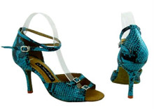 Online Wide Shoes - Blue Lagoon (fully adjustable, fully leather)