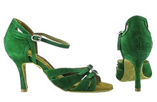 Online Wide Shoes - Jungle Lush (fully adjustable, fully suede)