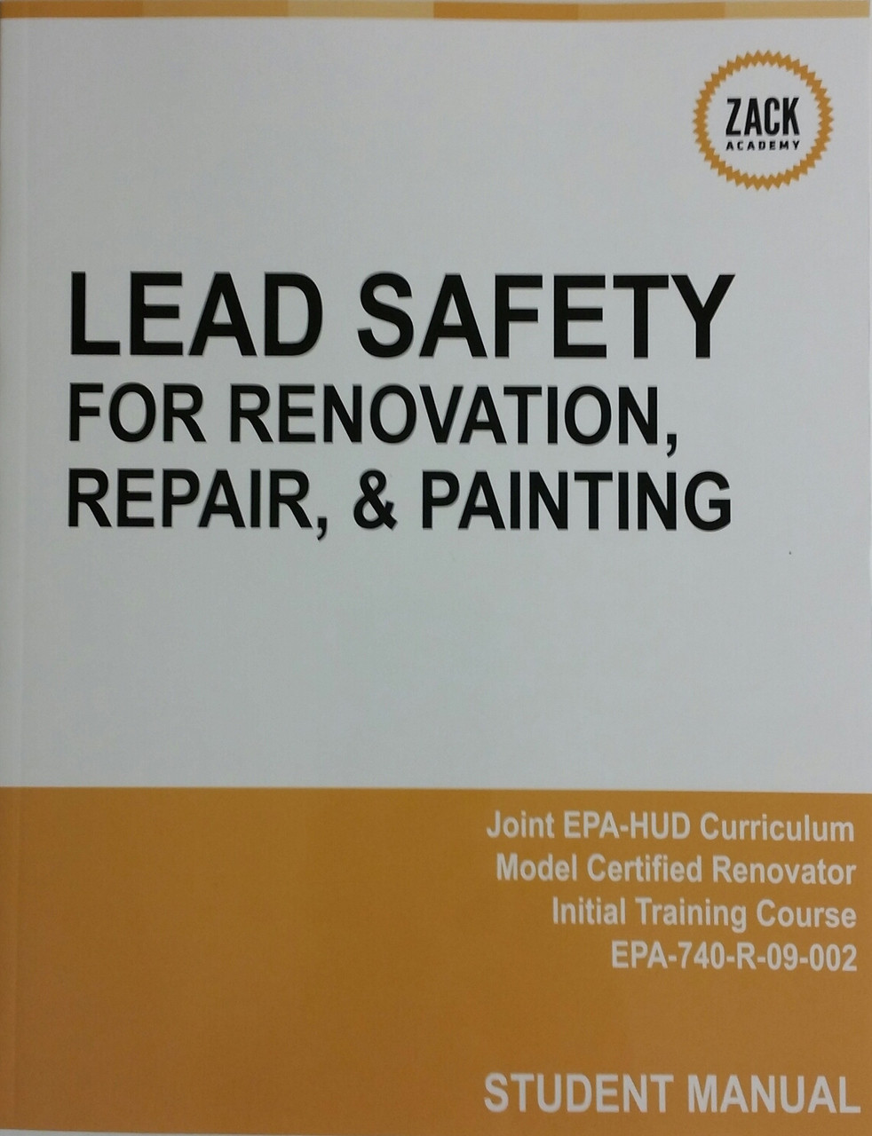 Epa Lead Renovator Rrp Course Manual Field Reference Guide