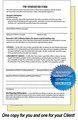 These 2-sheet carbon copy disclosure forms make record keeping simple!