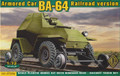 ACE 72264 - 1/72 Armored Car BA-64 - Railroad version
