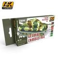 AK INTERACTIVE AK 167 - German Camouflage, Rotbraun & Olivgrün Modulation Set