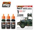 AMMO OF MIG JIMENEZ A.MIG-7114 - NATO Colors Pack Set