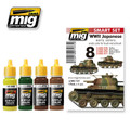 AMMO OF MIG JIMENEZ A.MIG-7137 - WWII Japanese AFV Early Colors Set