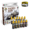 AMMO OF MIG JIMENEZ A.MIG-7174 - Panther-G Colors for Interior and Exterior Set