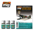 AMMO OF MIG JIMENEZ A.MIG-7422 - WWII Soviet Airplanes (Green & Black Camouflages)