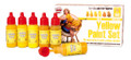 ANDREA MINIATURES ACS-011 - Yellow Paint Set