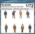 CMK ML80396 - 1/72 Submarine Crew on the Deck Departing Port