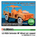 "DEF.MODEL DW35027 - 1/35 U.S RSOV Defender ""MT"" Sagged wheel set"