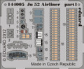 EDUARD 144005 - 1/144 Ju 52 Airliner (Photoetch)
