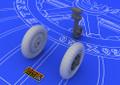 EDUARD 648058 - 1/48 Bf 109E Wheels