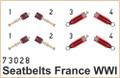 EDUARD 73028 - 1/72 Seatbelts France WWI Superfabric (Photoetch)