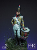 FER MINIATURES ELI00004 - 75mm Drummer Boy 77th East Middlesex, 1808