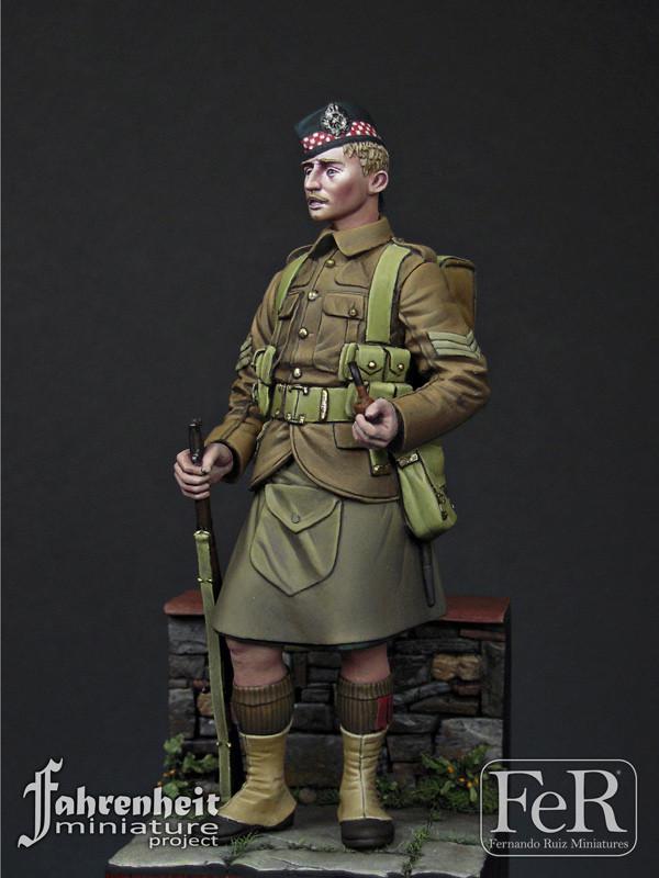 FER MINIATURES FAH00006 - 75mm NCO, Argyll & Sutherland Highlanders, 1915