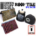GREEN STUFF WORLD 1417 - Roof Tile Punch Miniature Dark Grey