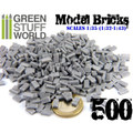 GREEN STUFF WORLD 9203 - 500x Model Bricks - Grey