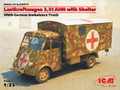 ICM 35417 - 1/35 Lastkraftwagen 3.5 t AHN with Shelter, WWII German Ambulance Truck