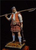 YOUNG MINIATURES YH9004 - 90mm Highland Clansman, 1746