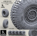 "LIVE RESIN LRE-35153 - 1/35 Wrangler/Good Year 37"" MT/R tire and Wheels Set"