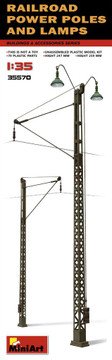 MINIART 35570 - 1/35 Railway Power Poles & Lamps