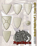 PEGASO MODELS ME-006 - 54mm Medieval Shields Set #2