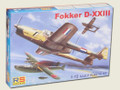 RS MODELS 92081 - 1/72 Fokker D-XXIII East India