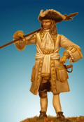 SOLDIERS SP-10B - 54mm French Infantry Officer 1704-1712
