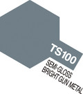 TAMIYA 85100 TS-100 - Semi Gloss Bright Gun Metal (100ml)