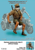 TANK T-35132 - 1/35 German Motorcycle Rider II (African Corps)