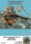 TANK T-35133 - 1/35 German Motorcycle Rider III (African Corps)