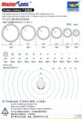 TRUMPETER / MASTER TOOLS 09949 - Plastic Circle Board D-Set