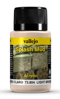 VALLEJO 73804 - Wet Light Brown Splash Mud (40ml)