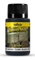VALLEJO 73806 - Wet Black Splash Mud (40ml)