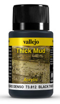VALLEJO 73812 - Black Thick Mud (40ml)