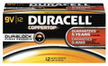 DURACELL® COPPERTOP® ALKALINE BATTERY WITH DURALOCK POWER PRESERVE™ TECHNOLOGY Battery, Alkaline, Size 9V, 12/pk, 6 pk/cs (UPC# 52448) (SPEICAL OFFER!! SEE BELOW!!)$235.02/CASE