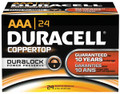 DURACELL® COPPERTOP® ALKALINE BATTERY WITH DURALOCK POWER PRESERVE™ TECHNOLOGY Battery, Alkaline, Size AAA, 24/bx, 6 bx/cs (UPC# 53048) (SPEICAL OFFER!! SEE BELOW!!)$126.54/CASE