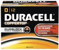 DURACELL® COPPERTOP® ALKALINE BATTERY WITH DURALOCK POWER PRESERVE™ TECHNOLOGY Battery, Alkaline, Size D, 12/pk, 6 pk/cs (UPC# 01301) (SPEICAL OFFER!! SEE BELOW!!)$144.72/CASE