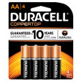DURACELL® COPPERTOP® ALKALINE RETAIL BATTERY WITH DURALOCK POWER PRESERVE™ TECHNOLOGY Battery, Alkaline, Size AA, 4pk, 14/pk, 4 pk/cs (UPC# 03561) (SPEICAL OFFER!! SEE BELOW!!)$196.76/CASE