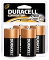 DURACELL® COPPERTOP® ALKALINE RETAIL BATTERY WITH DURALOCK POWER PRESERVE™ TECHNOLOGY Battery, Alkaline, Size D, 4pk, 2/bx, 6 bx/cs (UPC# 03361) (SPEICAL OFFER!! SEE BELOW!!)$115.44/CASE
